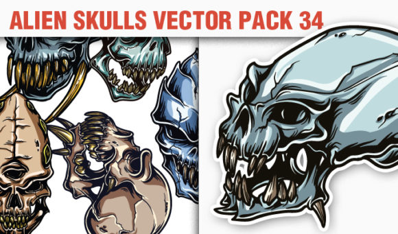 Skulls Vector Pack 34 Skulls [tag]