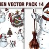 Santas Vector Pack 12 products designious vector snowmen 14 small