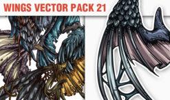 Wings Vector Pack 21 Wings [tag]