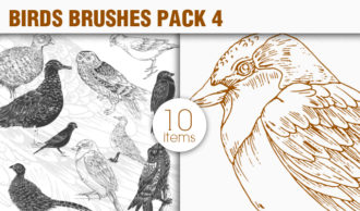 Birds Brushes Pack 4 Nature brushes [tag]