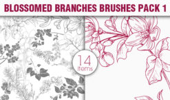 Blossomed Branches Brushes Pack 1 Nature brushes [tag]
