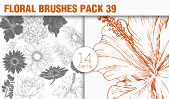 Floral Brushes Pack 39 Floral brushes [tag]