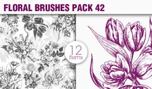 Floral Brushes Pack 42 Floral brushes [tag]