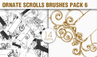Scrolls Brushes Pack 6 – Ornate Scrolls Scrolls brushes [tag]