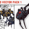 Reptiles Vector Pack 1 products designious vector spiders 1 small