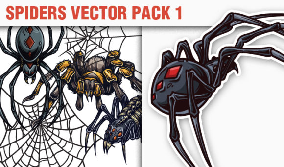 Spiders Vector Pack 1 products designious vector spiders 1 small
