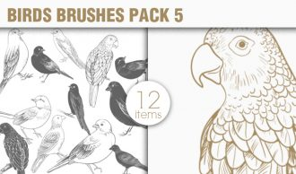 Birds Brushes Pack 5 Nature brushes [tag]