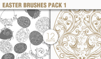 Easter Brushes Pack 1 Holiday brushes [tag]