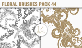 Floral Brushes Pack 44 Floral brushes [tag]