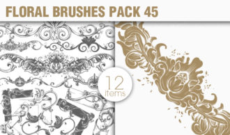 Floral Brushes Pack 45 Floral brushes [tag]