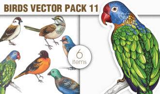 Birds Vector Pack 11 Nature [tag]