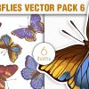 Predator Eyes Vector Pack 1 products designious vector butterflies 6 small