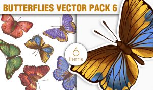 Butterflies Vector Pack 6 Nature [tag]