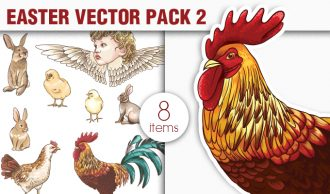 Easter Vector Pack 2 Holidays [tag]