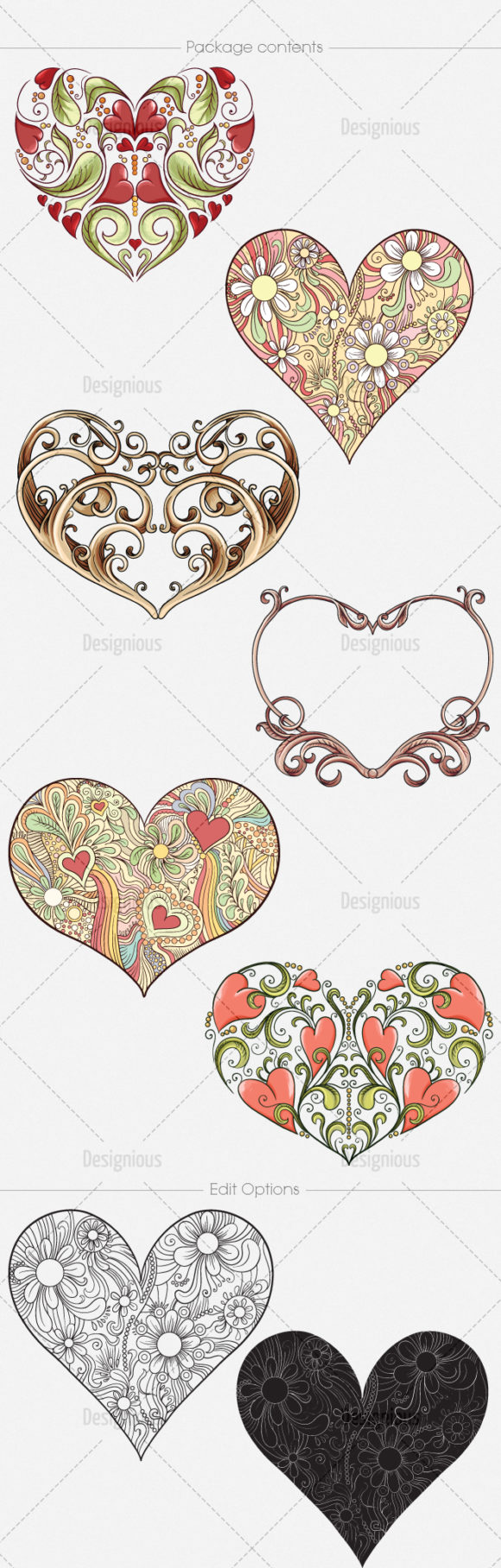 Hearts Vector Pack 5 6