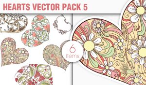 Hearts Vector Pack 5 Holidays [tag]