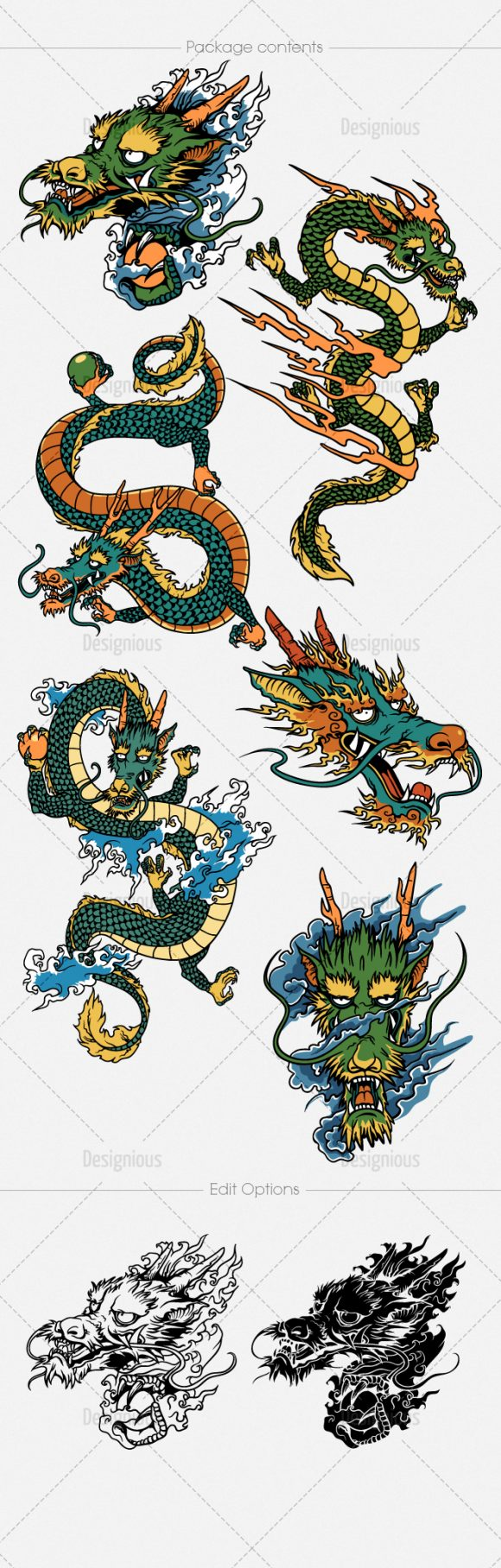 Dragons Vector Pack 2 6
