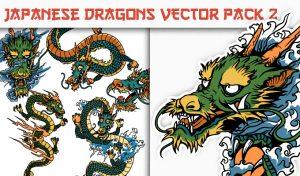 Dragons Vector Pack 2 Japanese Art [tag]