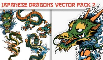 Dragons Vector Pack 2 Japanese Art [tag]