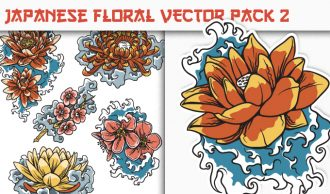 Japanese Flowers Vector Pack 2 Japanese Art [tag]