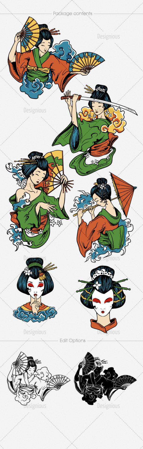 Geisha Vector Pack 3 6