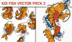 Koi Fish Vector Pack 2 Japanese Art [tag]