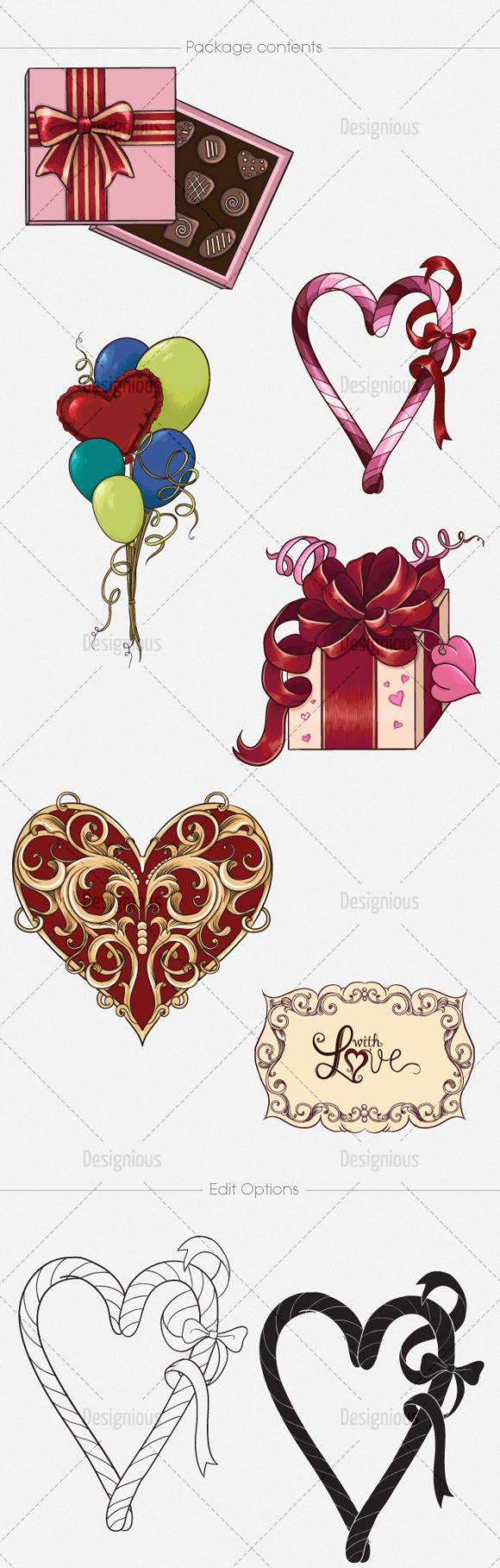 Valentines Day Vector Pack 1 6