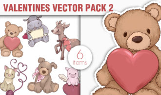Valentines Day Vector Pack 2 Holidays [tag]