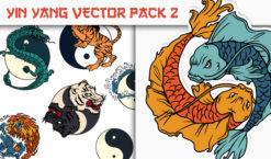 Yin Yang Vector Pack 1 Japanese Art [tag]