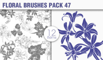 Floral Brushes Pack 47 Floral brushes [tag]