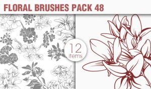 Floral Brushes Pack 48 Floral brushes [tag]