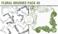 Floral Brushes Pack 49 Floral brushes [tag]