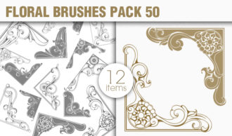Floral Brushes Pack 50 Floral brushes [tag]