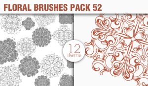 Floral Brushes Pack 52 Floral brushes [tag]