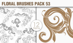 Floral Brushes Pack 53 Floral brushes [tag]