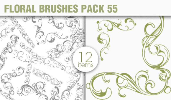 Floral Brushes Pack 55 Floral brushes [tag]