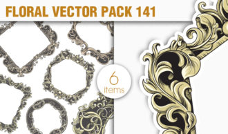 Floral Vector Pack 141 Floral [tag]