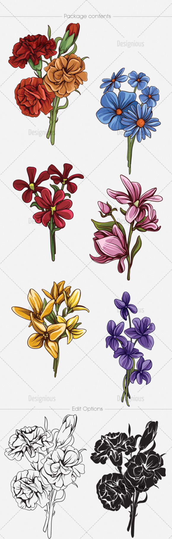 Floral Vector Pack 143 6