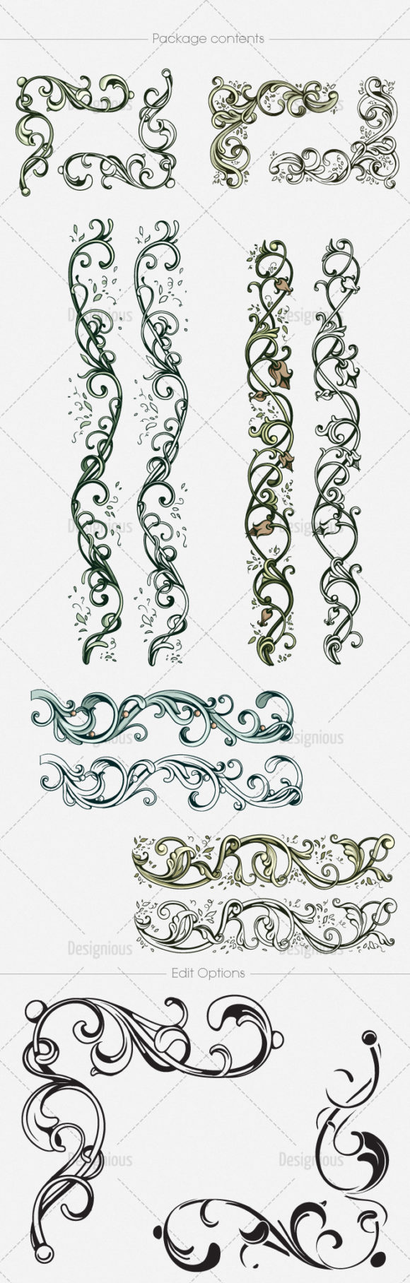 Floral Vector Pack 150 products designious vector floral 150 large