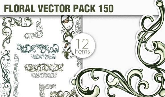 Floral Vector Pack 150 products designious vector floral 150 small