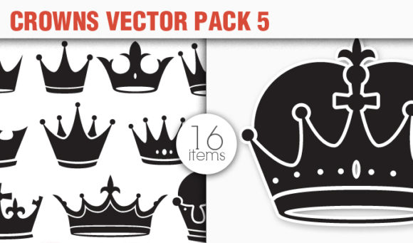 Crowns Vector Pack 5 products designious vector crowns 5 small