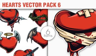 Hearts Vector Pack 6 People [tag]