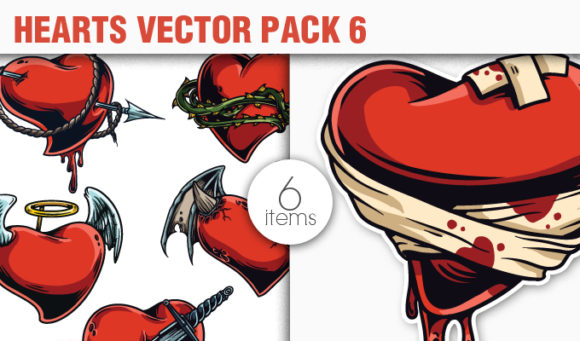 Hearts Vector Pack 6 products designious vector hearts 6 small