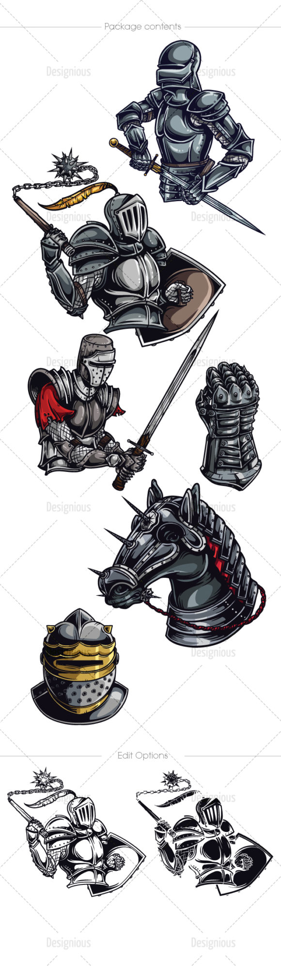 Knights Vector Pack 2 products designious vector knights 2 large