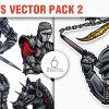 Shackled Vector Pack 2 products designious vector knights 2 small