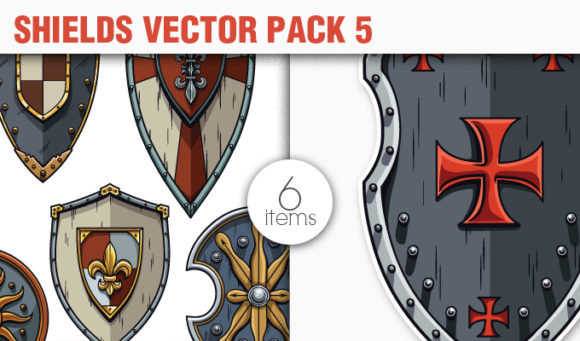 Shields Vector Pack 5 products designious vector shields 5 small