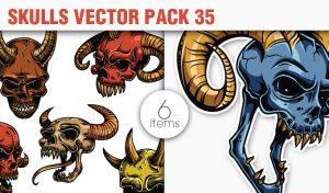 Skulls Vector Pack 35 Skulls [tag]