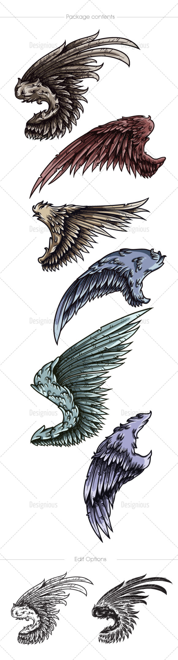 Wings Vector Pack 22 products designious vector wings 22 large