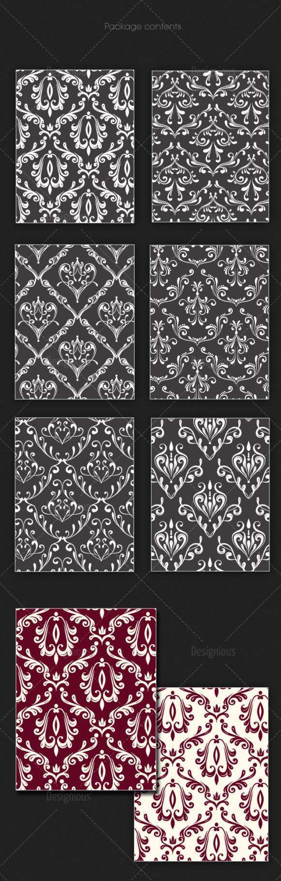 Seamless Patterns Vector Pack 124 products seamless patterns vector pack 124 large