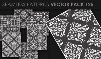 Seamless Patterns Vector Pack 125 Vector Patterns [tag]